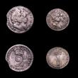 London Coins : A150 : Lot 2508 : Maundy Set 1691 ESC 2385 comprising Fourpence unaltered date (ESC 1870) Fine/Near Fine, Threepence t...