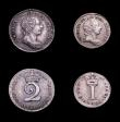 London Coins : A150 : Lot 2514 : Maundy Set 1786 ESC 2418 NVF to GVF the Threepence and Twopence attractively toned