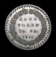 London Coins : A150 : Lot 2545 : One Shilling and Sixpence Bank Token 1811 ESC 969 UNC, the obverse deeply toned, slabbed and graded ...