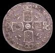 London Coins : A150 : Lot 2651 : Shilling 1702 Plumes reverse Esc 1129 scarce VF even grey tone small metal fault at rim 7 o clock