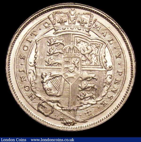 Sixpence 1820 George III ESC 1638 UNC and lustrous with some small rim nicks : English Coins : Auction 150 : Lot 2830