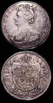 London Coins : A150 : Lot 758 : Union of England and Scotland 1707 25mm diameter in silver Eimer 424b on a thin flan Good Fine, Unio...