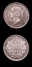 London Coins : A150 : Lot 904 : Canada (2) 10 Cents 1892 KM#3 Fine, 5 Cents 1893 KM#2NVF the obverse with some surface marks