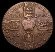 London Coins : A151 : Lot 1047 : Ireland Crown 1690 Gunmoney S.6578 Legend commences to left of head VF/About VF with traces of the u...