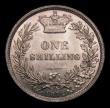 London Coins : A151 : Lot 1616 : Shilling 1872 ESC 1324, Die Number 108, CGS type SH.V1.1872.01, UNC and toned with a few contact mar...