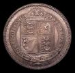 London Coins : A151 : Lot 1622 : Shilling 1887 Jubilee Head Davies 981, Dies 1B Q of QUI has almost no tail, CGS type SH.V1.1887.05, ...