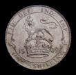 London Coins : A151 : Lot 1646 : Shilling 1909 ESC 1418, CGS type SH.E7.1909.01, About UNC and attractively toned, slabbed and graded...