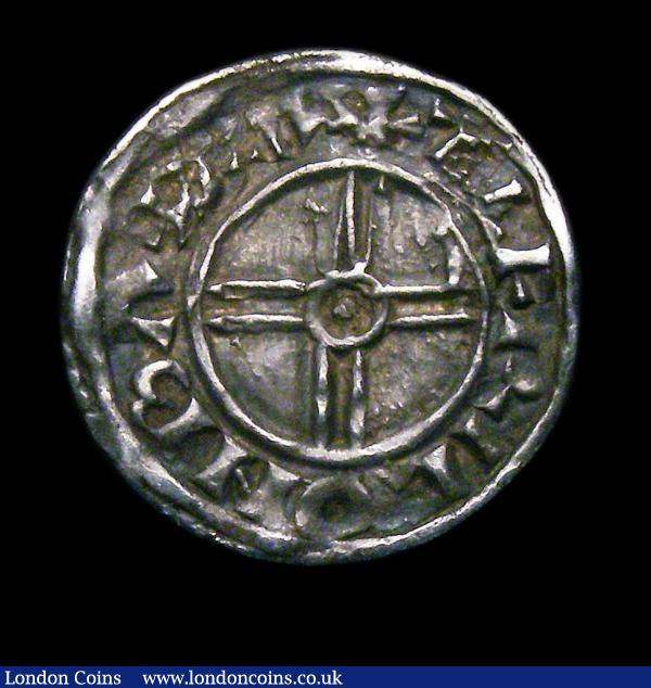 Penny Cnut Short Cross S.1159, North 790, Bath Mint, moneyer Aelfric VF : Hammered Coins : Auction 151 : Lot 2092