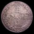 London Coins : A151 : Lot 2163 : Crown 1687 TERTIO ESC 78 GEF or better with some light haymarking and some adjustment lines on the t...