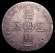 London Coins : A151 : Lot 2167 : Crown 1696 6 over 5 OCTAVO New ESC 998, Old ESC 90, VG or better, the obverse once lightly cleaned o...