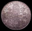 London Coins : A151 : Lot 2180 : Crown 1716 SECVNDO ESC 110 EF or near so with an attractive old tone