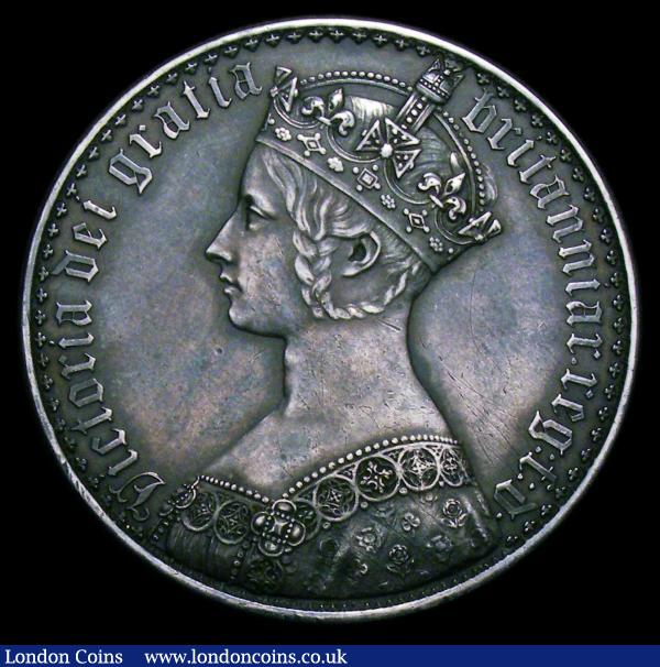 Crown 1847 Gothic UNDECIMO ESC 288 GVF darkly toned, Ex-brooch mount : English Coins : Auction 151 : Lot 2200