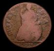 London Coins : A151 : Lot 2309 : Farthing 1673 CAROLA error Peck 523 only Fair but the error very clear