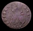 London Coins : A151 : Lot 2322 : Farthing 1697 GVLIELMS error Peck 660 VG, Extremely Rare