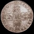London Coins : A151 : Lot 2867 : Shilling 1708 Third Bust, Plain in angles ESC 1147 EF and lustrous with a few flecks of haymarking