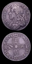 London Coins : A151 : Lot 2943 : Shillings (2) 1685 ESC 1068 Good Fine with a pleasing old grey tone, comes with an old collector...