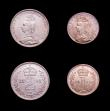 London Coins : A151 : Lot 3399 : Maundy Set 1891 ESC 2506 UNC and lustrous, the Fourpence and Twopence with small rim nicks