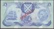 London Coins : A151 : Lot 522 : Scotland Bank of Scotland £5 SPECIMEN dated 1st December 1975 series AG000000, signed Clydesmu...