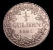 London Coins : A152 : Lot 1181 : German States - Hesse-Darmstadt Half Gulden 1841 KM#307 GVF/NEF with a small spot in the obverse fie...