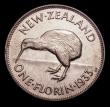 London Coins : A152 : Lot 1272 : New Zealand Florin 1933 KM#4 Lustrous UNC with some dark toning around the rims