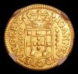 London Coins : A152 : Lot 1277 : Portugal 1000 Reis 1714 KM#182 NGC XF Details - Removed from Jewellery
