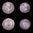 London Coins : A152 : Lot 1769 : Maundy Set 1686 ESC 2381 Fourpence Near Fine with some thin scratches, Threepence VG, Twopence VF to...