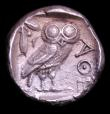 London Coins : A152 : Lot 1905 : Athens, Attica Tetradrachm (449-404BC) Obv. Head of Athena right, Rev. Owl with olive branch AOE, we...