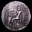 London Coins : A152 : Lot 1910 : Macedonia, Alexander the Great posthumous issue Tetradrachm of Odessa (struck 125-470BC)  Rev. Zeus ...
