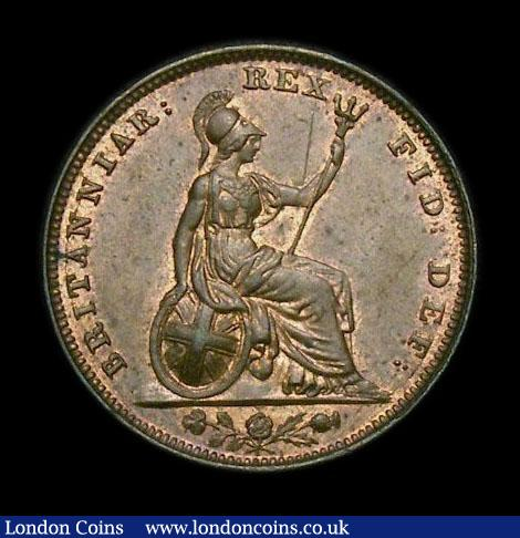 Farthing 1826 Second Issue Peck 1439 UNC with traces of lustre, slabbed and graded CGS 80, Ex-NGC MS63 RB (ticket not supplied), the joint finest of 3 examples thus far recorded by the CGS Population Report : English Coins : Auction 152 : Lot 2168
