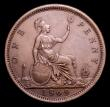 London Coins : A152 : Lot 2407 : Penny 1869 Freeman 59 dies 6+G VF, Rare, Ex-Croydon Coins Auction 18/1/200 hammer price £330