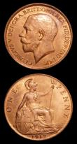 London Coins : A152 : Lot 2510 : Pennies (3) 1910 Freeman 170 dies 2+E UNC and lustrous (bought 5/11/1994 £15.50), 1911 Freeman...