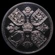 London Coins : A152 : Lot 2633 : Crown 1953 VIP Proof with frosted design and highly polished fields ESC 393M, clearly a VIP issue, e...