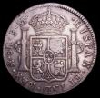 London Coins : A152 : Lot 2650 : Dollar George III Oval Countermark on 1794 Mexico City 8 Reales ESC 129 countermark GVF host coin VF...
