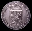 London Coins : A152 : Lot 2842 : Halfcrown 1689 Second Shield, No Frosting, No pearls ESC 512 Fine/Good Fine, toned