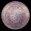London Coins : A152 : Lot 2910 : Halfcrown 1893 Proof ESC 727 Davies 663 dies 2B UNC/nFDC with grey tone, the obverse with some hairl...