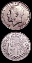 London Coins : A152 : Lot 2984 : Halfcrowns (2) 1912 ESC 759 NEF, 1913 ESC 760 GVF/NEF the obverse with some contact marks and some t...
