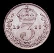 London Coins : A152 : Lot 3708 : Threepence 1922 ESC 2137 Lustrous UNC