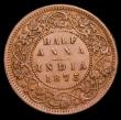 London Coins : A153 : Lot 1026 : India Half Anna 1875 Calcutta Mint KM#468 GVF with a couple of small spots, Rare