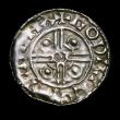 London Coins : A153 : Lot 1959 : Penny Cnut Pointed Helmet type, with Cross behind bust, S.1158, as North 787 Lympne Mint, moneyer GO...