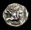 London Coins : A153 : Lot 2087 : Ar stater.  Cyprus. Kition. Baalmelek II. C, 425-400 BC.  Obv; Herakles in fighting stance right, ho...