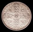 London Coins : A153 : Lot 2202 : Florin 1849 WW obliterated by linear circle ESC 802A NEF with some contact marks