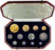 London Coins : A153 : Lot 2410 : Proof Set 1911 Long Set (12 Coins) Five Pounds, Two Pounds, Sovereign, Half Sovereign, Halfcrown, Fl...