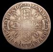 London Coins : A153 : Lot 2456 : Crown 1666 XVIII edge ESC 32 VG