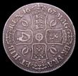 London Coins : A153 : Lot 2459 : Crown 1667 ESC 35A AN REG with diagonally spaced stops on the edge Good Fine