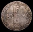 London Coins : A153 : Lot 2492 : Crown 1687 TERTIO ESC 78 Fine, the reverse slightly better with an edge knock at the bottom of the r...