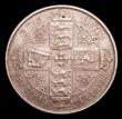 London Coins : A153 : Lot 2790 : Florin 1877 ESC 846, Davies 762 Die Number 8, Davies notes that Die number 8 coins are found with th...