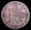 London Coins : A153 : Lot 2909 : Halfcrown 1676 VICESIMO OCTAVO ESC 478 VG