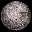 London Coins : A153 : Lot 2912 : Halfcrown 1679 GRATTA error ESC 481A Good Fine with some haymarks, darkly toned in places