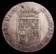 London Coins : A153 : Lot 2922 : Halfcrown 1689 Second Shield, No frosting, no pearls ESC 512 About Fine