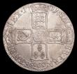 London Coins : A153 : Lot 2938 : Halfcrown 1701 Plain in angles ESC 564 NVF/GF with some haymarks